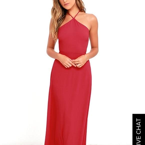 f9883cb4b21b Lulu's Dresses | Red Maxi Prom Dress | Poshmark